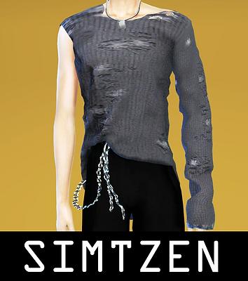 ATEEZ San - Answer Distressed Sweater Top