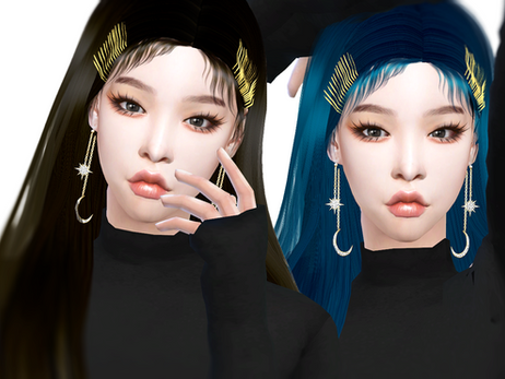 Download Sims 4 CC : Chungha 'Stay' Hairstyle 007