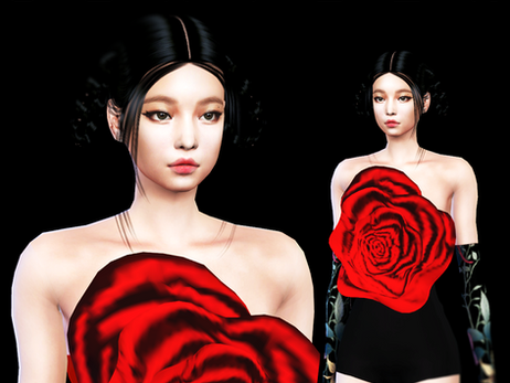Download Sims 4 CC : Jennie Solo 2021 Rose Top