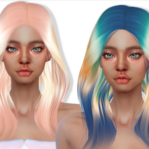 Download Sims 4 CC : Areum Hairstyle 009