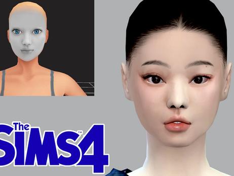 [Sims 4 CC WIP Test] BLACKPINK Jennie Skin Overlay