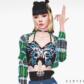 BLACKPINK Lisa 'Lovesick Girls' MV Outfit   Sims 4 CC Download