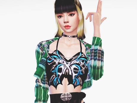 BLACKPINK Lisa 'Lovesick Girls' MV Outfit | Sims 4 CC Download