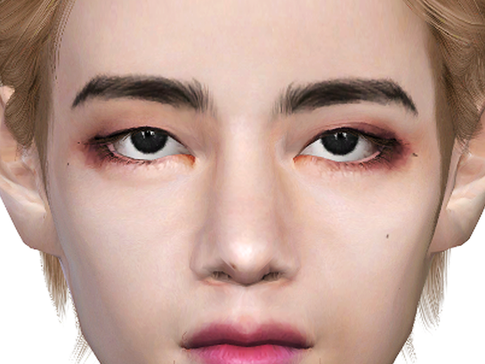 Download Sims 4 CC : BTS Taehyung Facemask Overlay