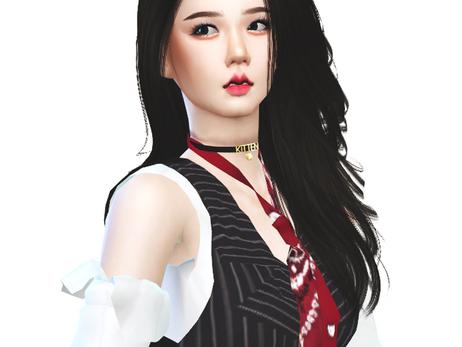 BLACKPINK Jisoo 'Lovesick Girls' MV Outfit | Sims 4 CC Download