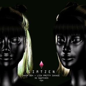 Download Sims 4 CC : Lisa Pretty Savage Hair 004