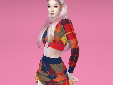 BLACKPINK Rosé 'Lovesick Girls' MV Outfit | Sims 4 CC Download