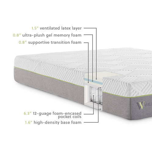 WELLSVILLE 11 LATEX HYBRID MATTRESS