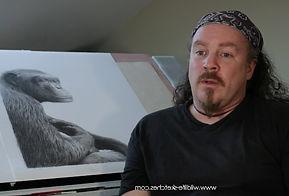 Wildlife artist David Dancey-Wood