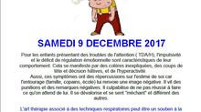 Atelier Art thérapie le 9 décembre 2017 suite à la conférence du 8 décembre avec D'Mel Môme / Fo