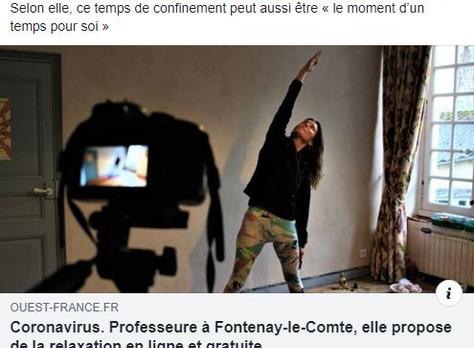 Yoga en vidéo pendant le confinement