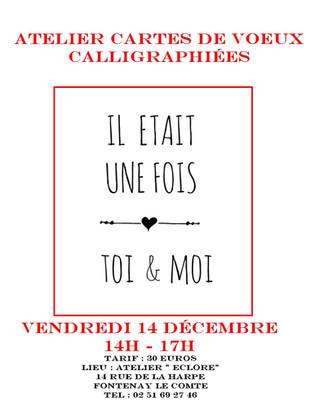 Atelier d'Art : Création de cartes calligraphiées