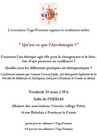 """Conférence """"L'art-thérapie"""" 24 mars 2017"""