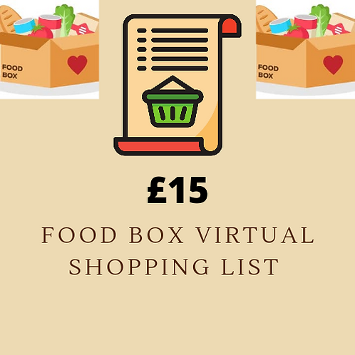 Virtual Shopping List - £15