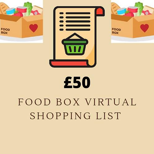 Virtual Shopping List - £50