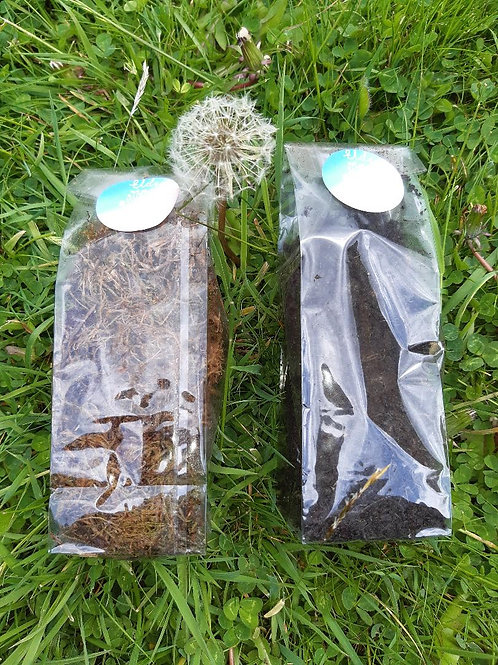 Small bags of Moss and Compost