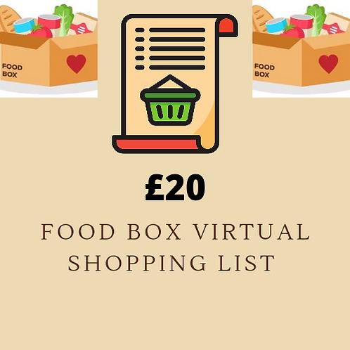 Virtual Shopping List - £20