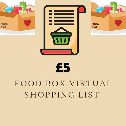 Virtual Shopping List - £5