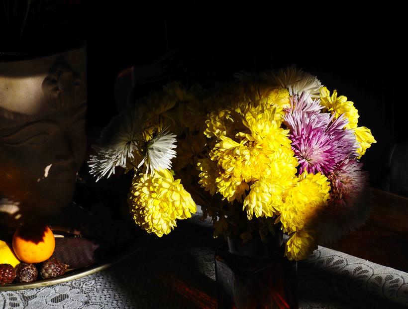 Bouquet sur Table