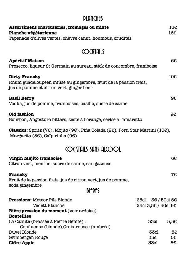 carte cocktails:bières :planches JPEG .j