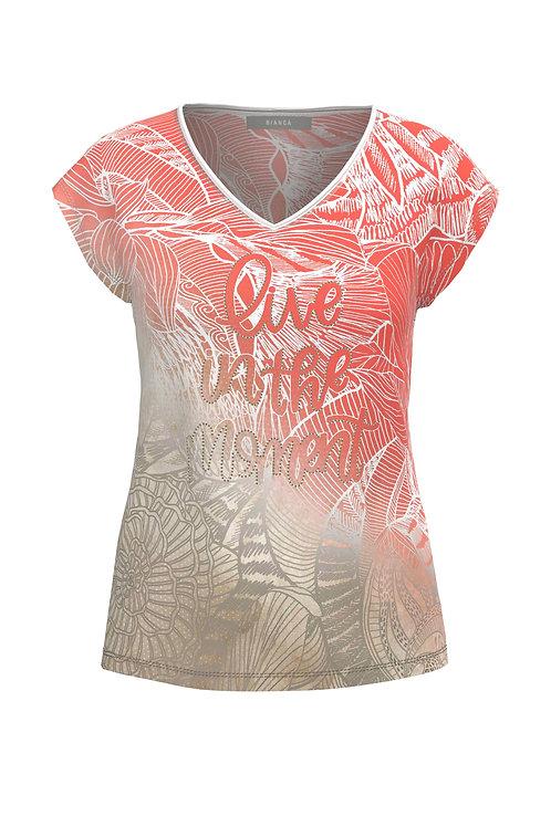 T-shirt Julie dessin corail Bianca