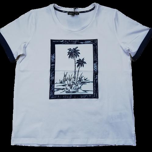 T-shirt blauw vierkant LeoUgo