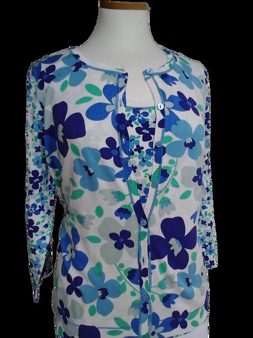 Twinset felblauw bloem LeoUgo