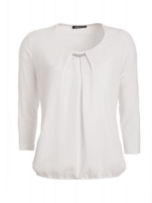 Blouse overhemd Nizza met nobele details