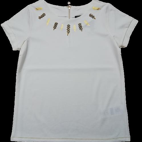 T-shirt goud aan hals LeoUgo