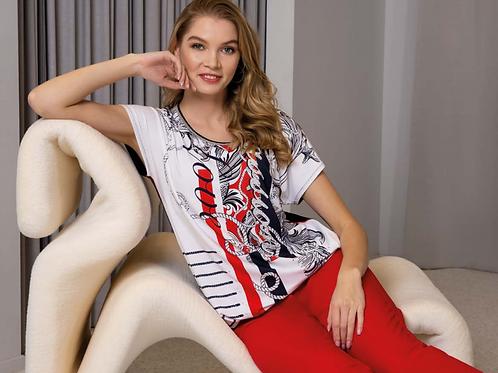 T-shirt blauw wit rood Passioni