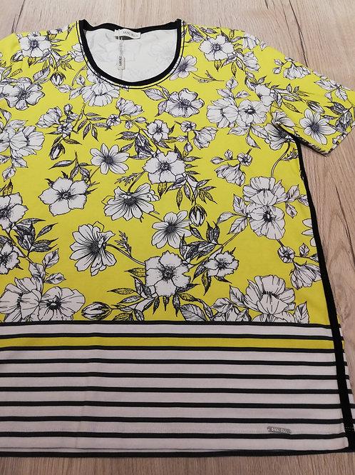 Sani Blu t-shirt geel bloem