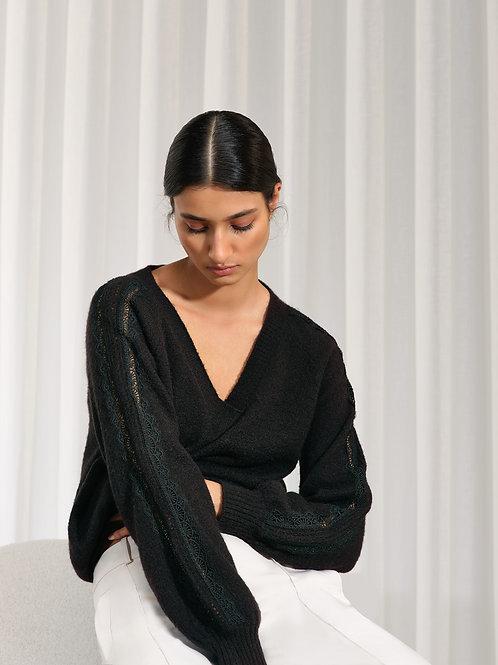 Zwarte trui met V Atmos