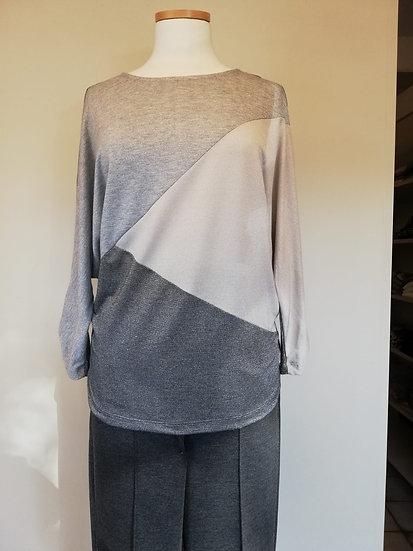 T-shirt bianca grijs beige 96