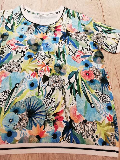 Sani Blu t-shirt bloem