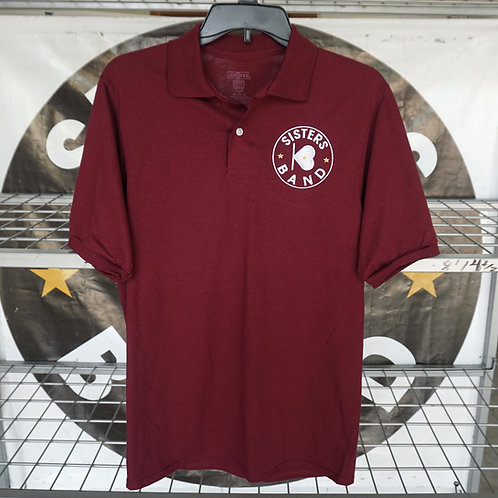 Embroidered Logo Maroon Polo