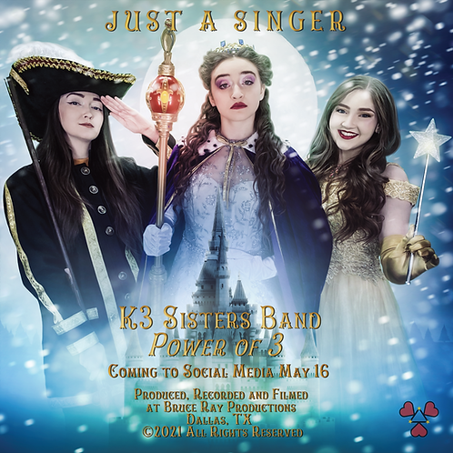 """""""Just A Singer"""" K3SB Power of 3 Movie Poster 12"""" x 12"""""""