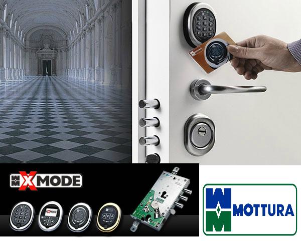 système fermeture electronique mottura code carte badge electro-mecanique