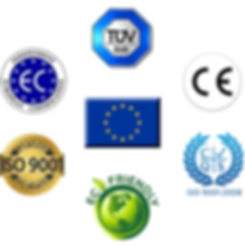 certificat CE TUV EC CE ISO9001 Eco friendly