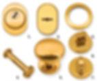 pommeau brass