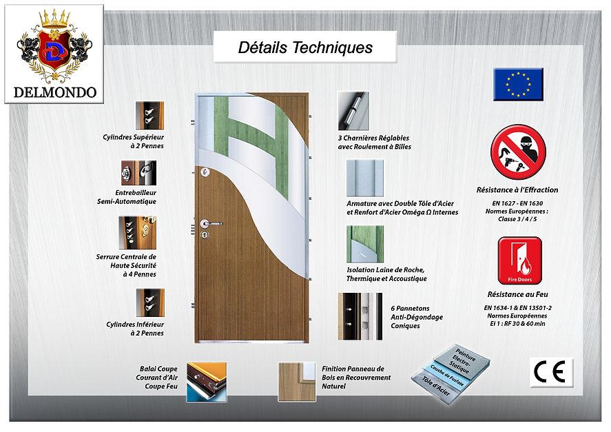 Détails Techniques Portes Blindées européen de haute sécurité
