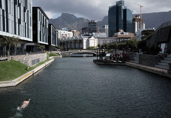 Open water swimming in Cape Town, Waterfront canals