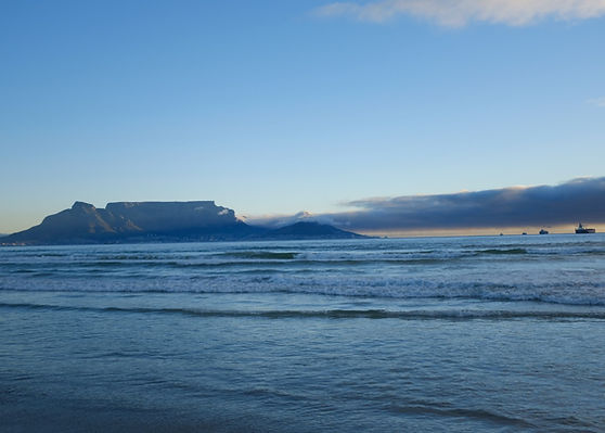 Open Water Swimming in Cape Town with Table Mountain in the background