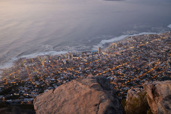 Hiking Lion's Head during our swimming holiday in Cape Town