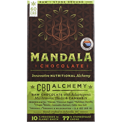 mandala CBD infused chocolate