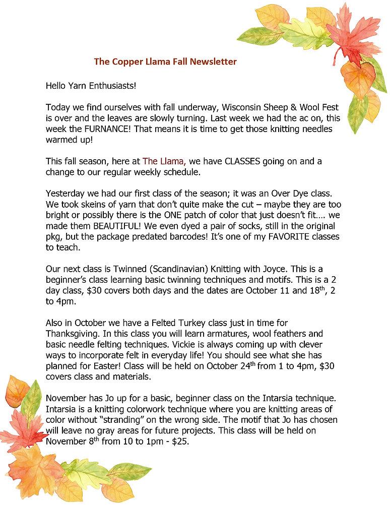The Copper Llama Fall Newslette2 1.jpg