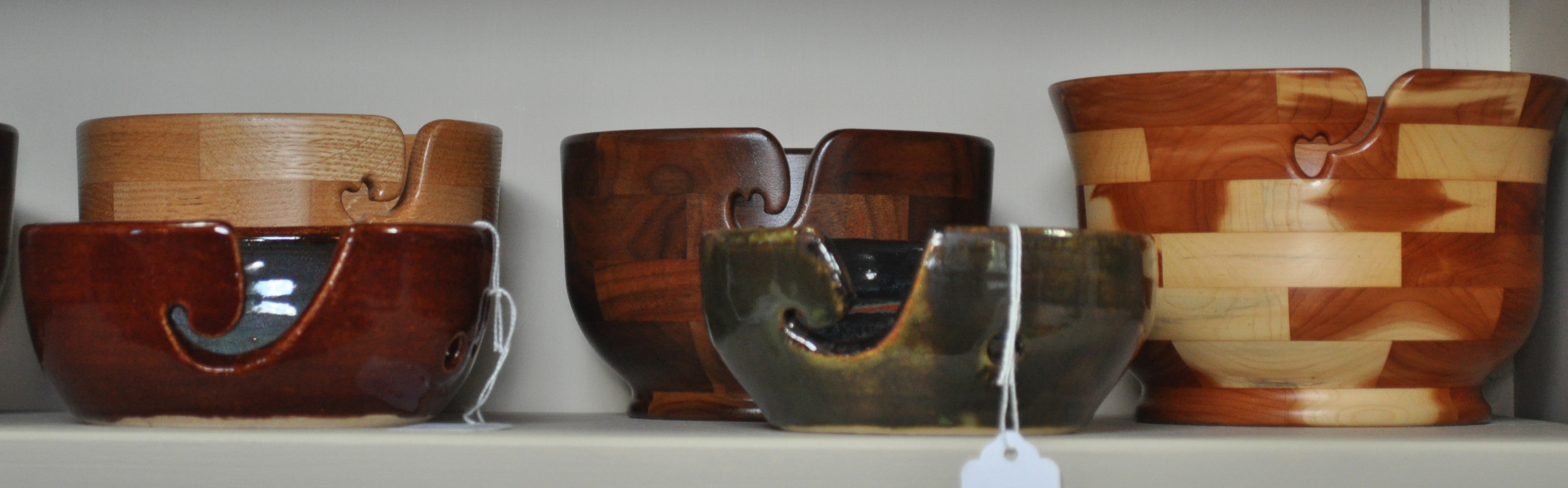 Wood or Ceramic Yarn Bowls