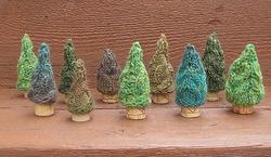 Scrap Yarn Trees