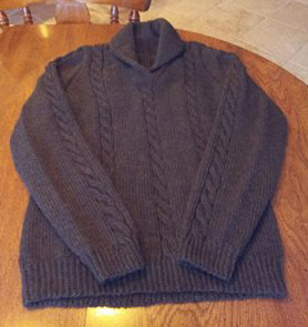 Cabled Sweater by Phyllis