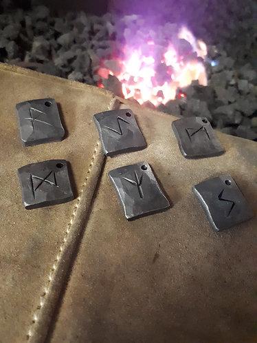 Hand-made steel runes