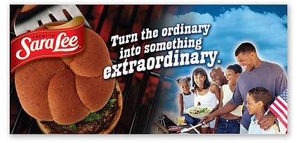 Sara Lee Header BBQ Point of Sale